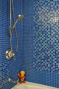 Blue Shower Remodel