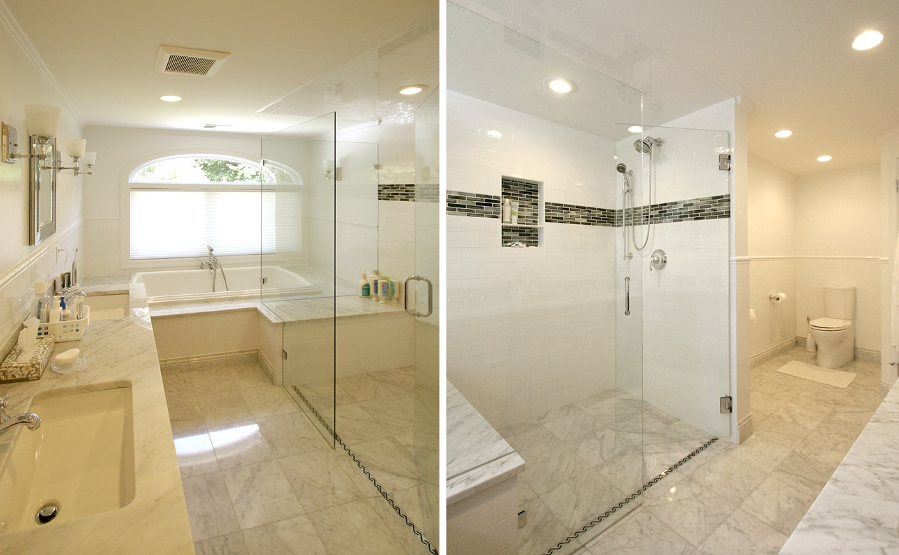 Waban Master Bath Side By Side. This Full Glass Shower Enclosure And ...